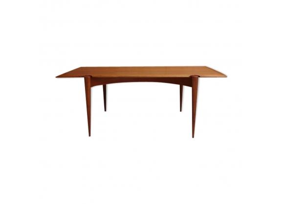 Table basse scandinave, plateau réversible