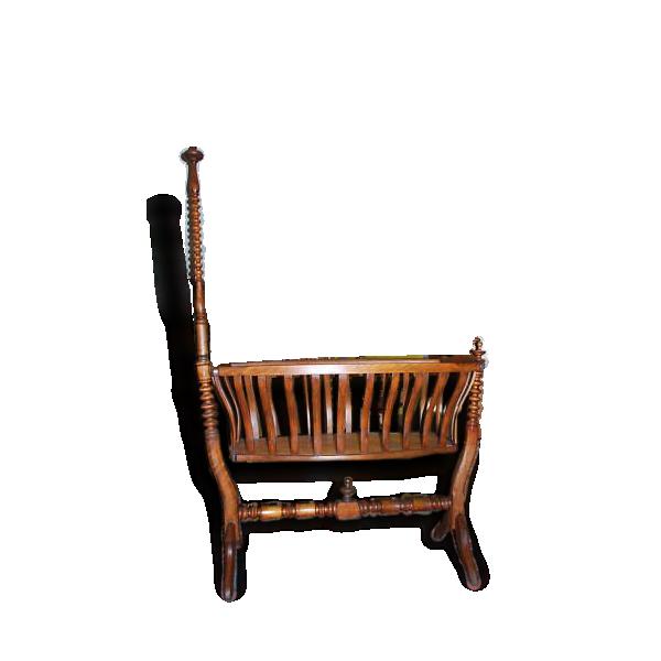berceau ancien en bois bois mat riau bon tat classique 141528. Black Bedroom Furniture Sets. Home Design Ideas