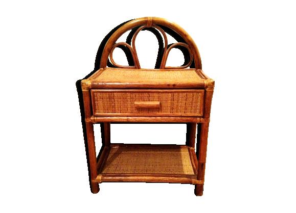 chevet en rotin rotin et osier marron bon tat vintage 5b46e72f55ae326daf1f606e4090e253. Black Bedroom Furniture Sets. Home Design Ideas