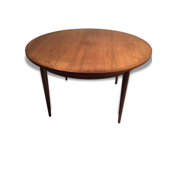 Table ronde scandinave en placage de palissandre