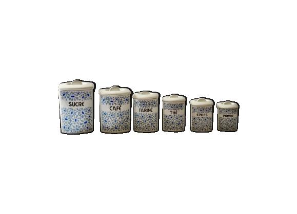 Boites à épices anciennes porcelaine