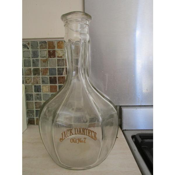 Ancienne bouteille jack daniels verre et cristal transparent - Console verre transparent ...