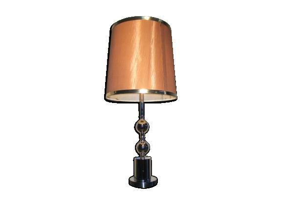 Lampe métal chromé années 50-60