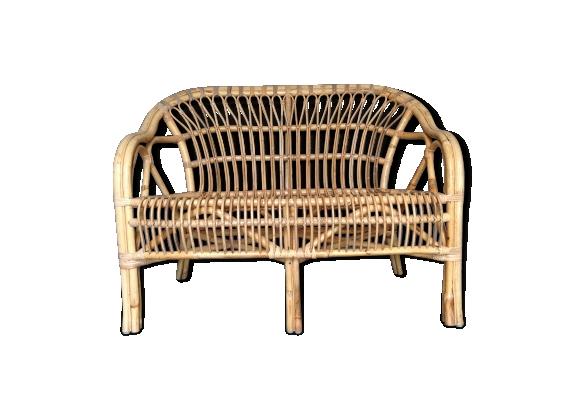 canap rotin vintage. Black Bedroom Furniture Sets. Home Design Ideas