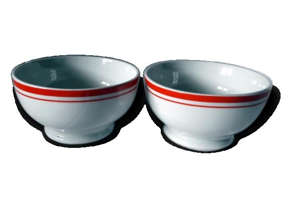 2 petits bols anciens en porcelaine longchamp
