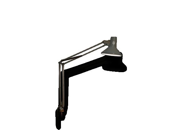lampe d 39 architecte luxo mod le l 1p dit par jacob jacobsen m tal blanc dans son jus. Black Bedroom Furniture Sets. Home Design Ideas