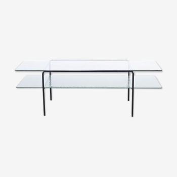 Barbmama design boutique en ligne - Table basse double plateau en verre ...