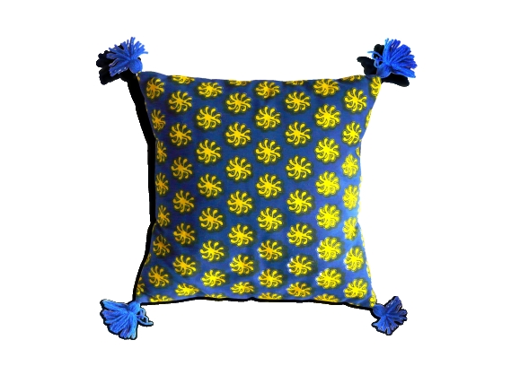Coussin toile achat vente de coussin pas cher - Coussin jaune et bleu ...