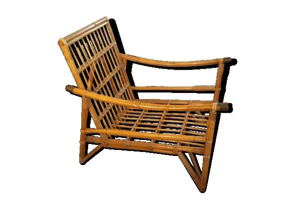 fauteuil en rotin et bambou vintage - Fauteuil Bambou