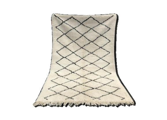 tapis berb re beni ouarain 240x153cm tissu multicolore bon tat thnique. Black Bedroom Furniture Sets. Home Design Ideas