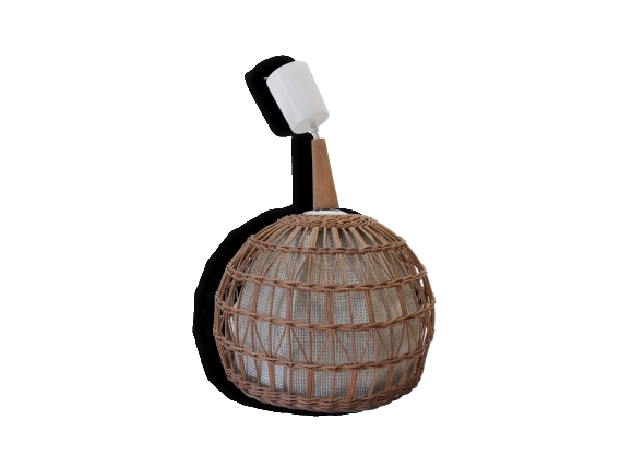 suspension boule rotin. Black Bedroom Furniture Sets. Home Design Ideas