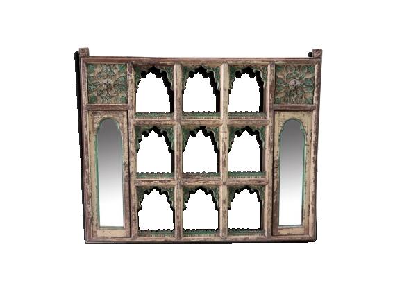 Etagères meuble temple pièce d'origine vieux teck