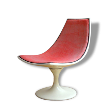 Fauteuil – Chauffeuse années 60 pied tulipe