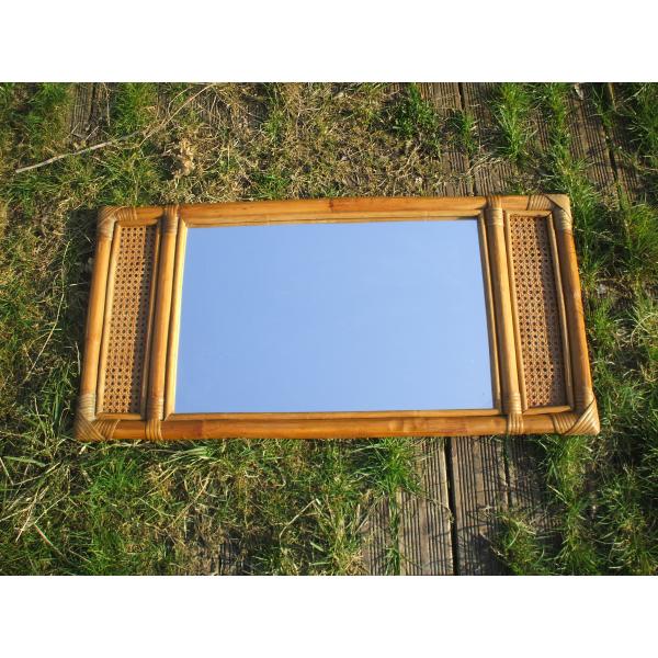 Miroir rectangulaire en rotin et cannage rotin et osier for Miroir rotin osier