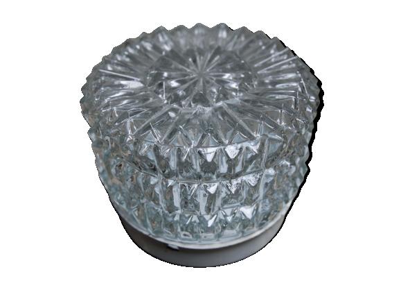 Applique ann e 50 ronde verre verre et cristal - Bureau transparent verre ...