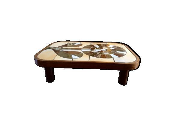 Table basse par Roger Capron modèle Shogun