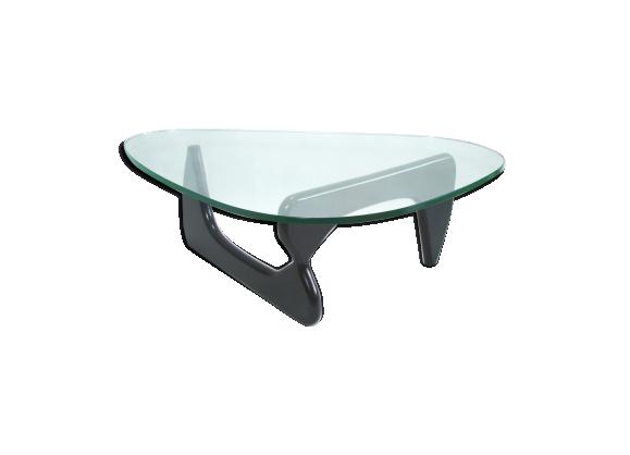 Table de salon noguchi noire bois mat riau noir - Table salon noire ...