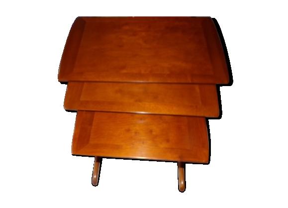 Ensemble de 3 tables gigogne art déco 1930