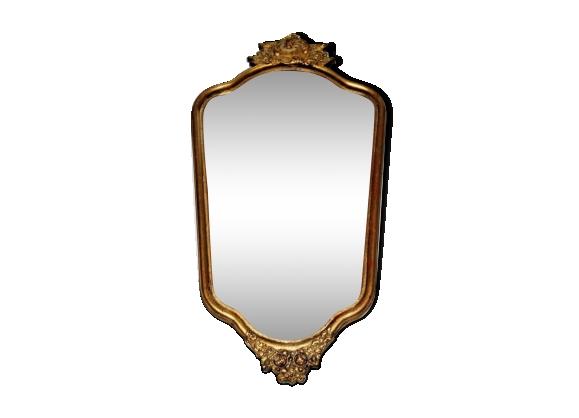 Miroir cadre bois for Miroir francais