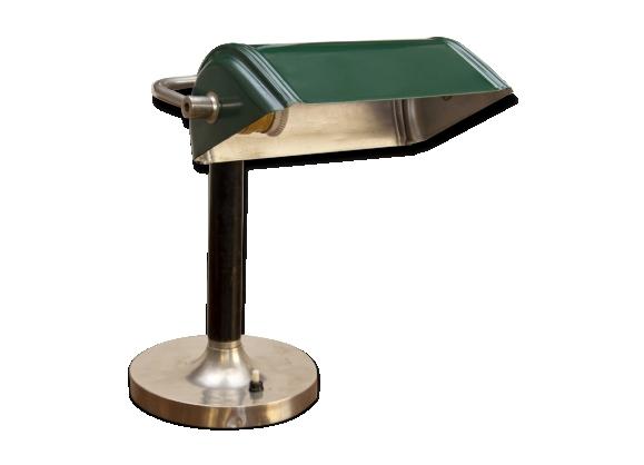 Lampe de banquier art déco, années 1930