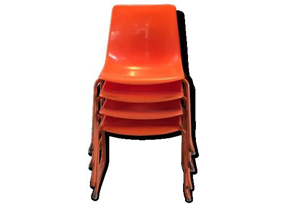 chaise vintage orange. Black Bedroom Furniture Sets. Home Design Ideas