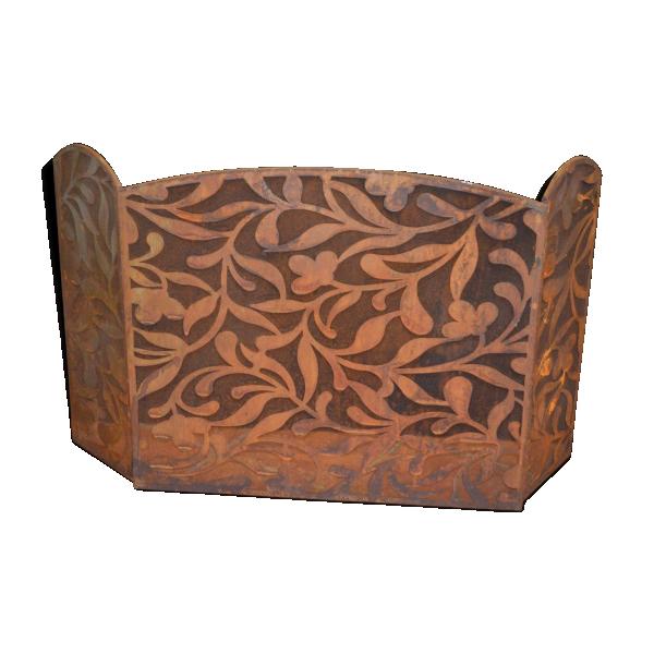 Pare feu en fer patin rouille fer marron bon tat for Peindre du fer rouille