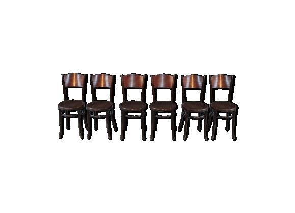 Suite de 6 chaises « bistro > XXeme