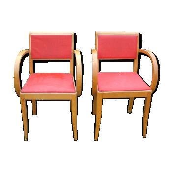 fauteuil chauffeuse rouge vintage d 39 occasion. Black Bedroom Furniture Sets. Home Design Ideas
