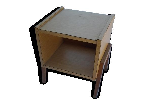 table de chevet vintage 70 s le fait main. Black Bedroom Furniture Sets. Home Design Ideas