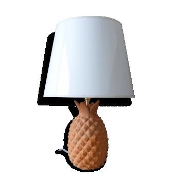 Lampe ananas en terre cuite