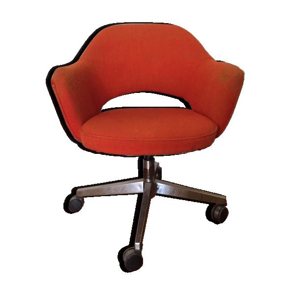 fauteuil de bureau saarinen pour knoll fibre de verre. Black Bedroom Furniture Sets. Home Design Ideas