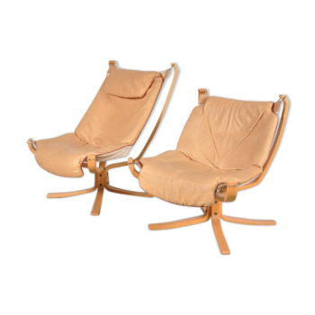 Lot de deux fauteuils  Falcon par Sigurd Ressell pour Vatne, 1960s