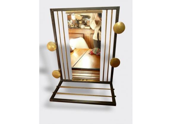 porte manteau miroir vintage tag re porte chapeau m tal noir bon tat vintage 7275. Black Bedroom Furniture Sets. Home Design Ideas