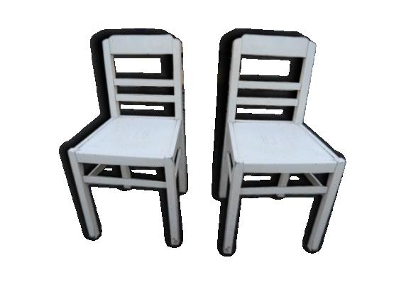Paire de chaises blanche