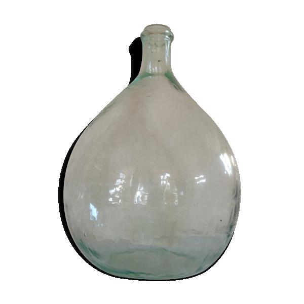 dame jeanne transparente 15 litres verre et cristal transparent bon tat vintage. Black Bedroom Furniture Sets. Home Design Ideas