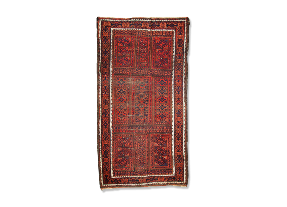 tapis ancien afghan baluch fait main 100cm x 188cm 1900s tissu rouge dans son jus. Black Bedroom Furniture Sets. Home Design Ideas