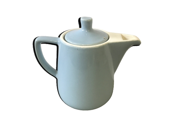 Théière vintage en porcelaine