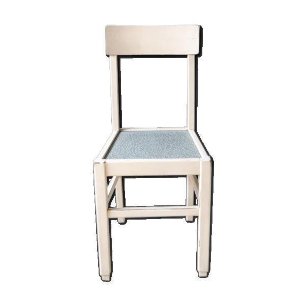 chaise en bois typique ann es 50 bois mat riau blanc. Black Bedroom Furniture Sets. Home Design Ideas