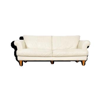 Mid Century Modern Italian Leather Sofa