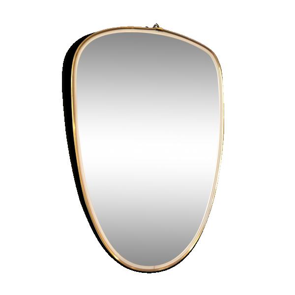 Miroir des ann es 50 verre et cristal dor bon tat for Miroir annees 50