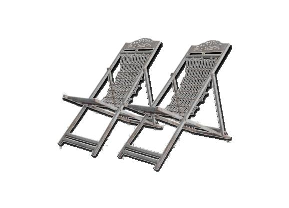 Chaise ext rieur m tal for Chaise aluminium exterieur