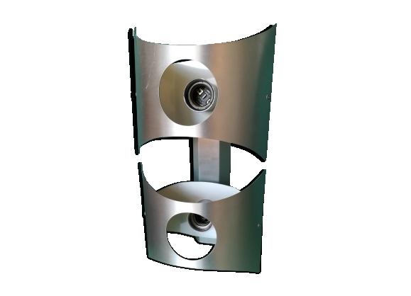 Applique en aluminium brossé