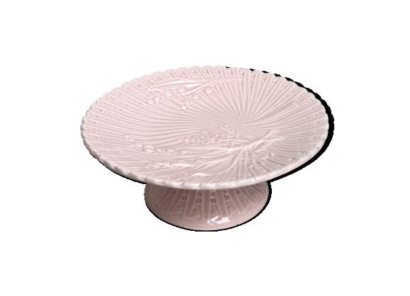 Plat porcelaine rose