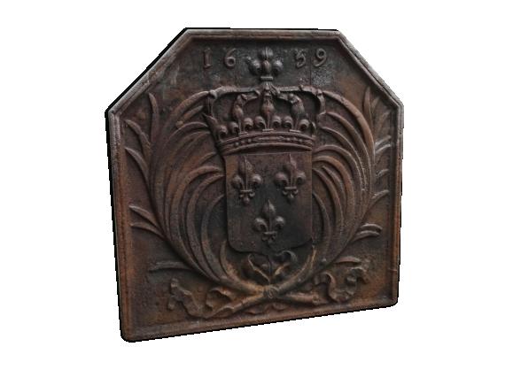 Plaque de cheminée de style Louis XVI