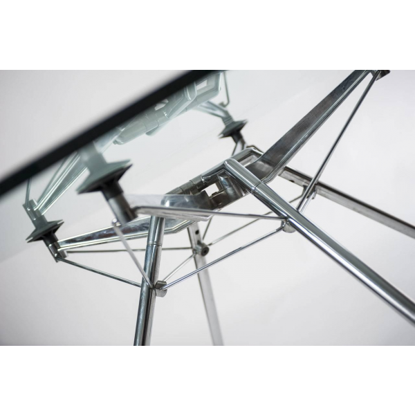 Table nomos norman foster verre et cristal transparent bon tat design - Table en verre transparent ...