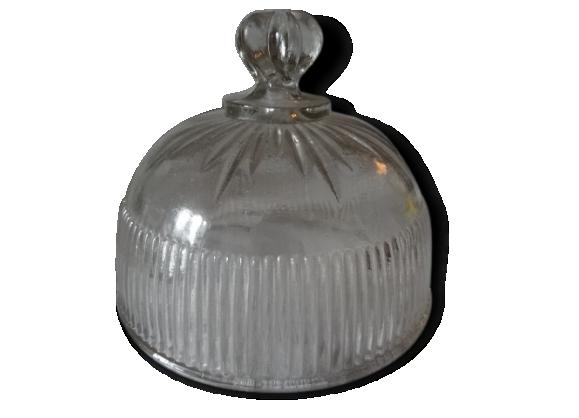 Cloche à fromage en verre moulé ou à pâtisserie