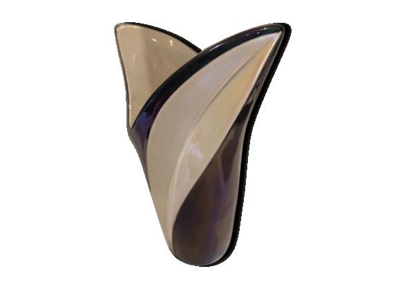 Vase design céramique irrisée des années 50-60 Verceram