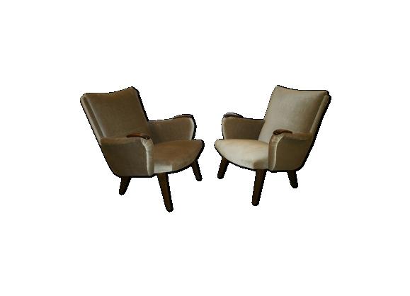 Paires de fauteuils danois cocktail années 50/60 de Arno Votteler knoll