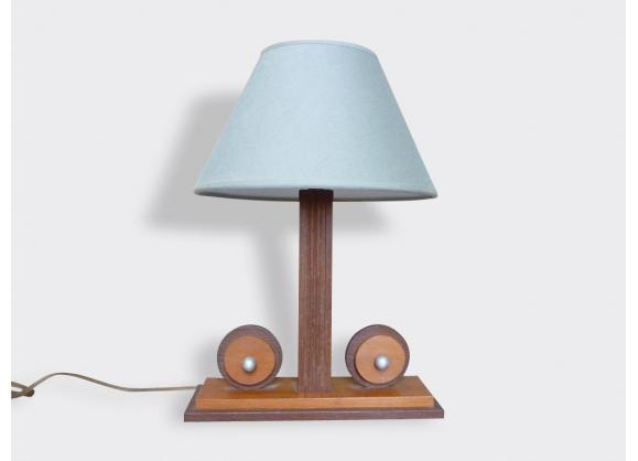 Pied de lampe en chêne