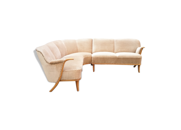 Canap d 39 angle sofa corner danois scandinave ann es 50 60 for Canape annee 60